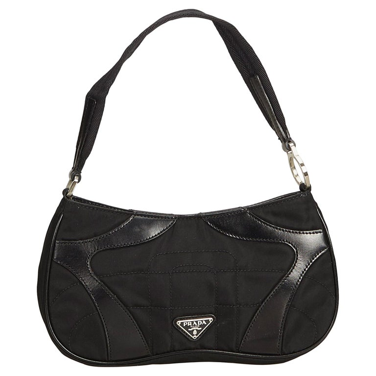 cc03251f5ae3 Prada Black Nylon Baguette at 1stdibs