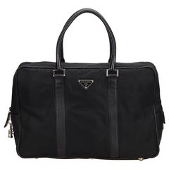 Prada Black Nylon Business Bag