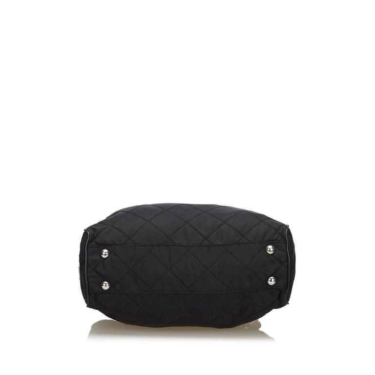 Women's Prada Black Nylon Chain Tote Bag For Sale