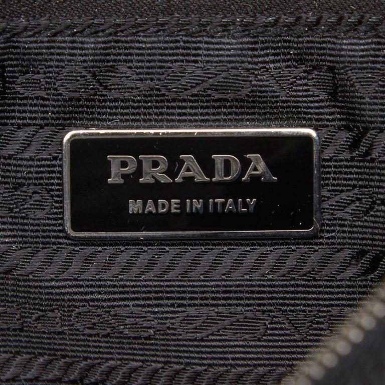 Prada Black Nylon Chain Tote Bag For Sale 1