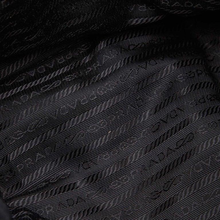 Prada Black Nylon Chain Tote Bag For Sale 2