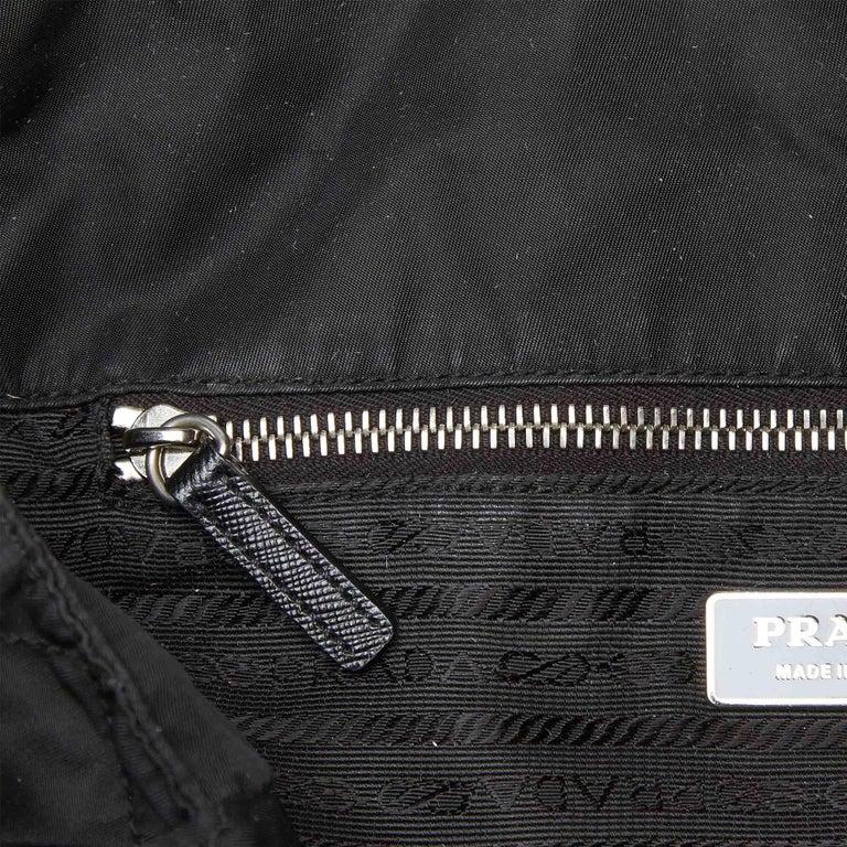Prada Black Nylon Chain Tote Bag For Sale 3