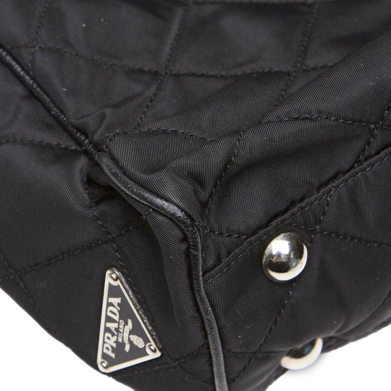Prada Black Nylon Chain Tote Bag For Sale 4