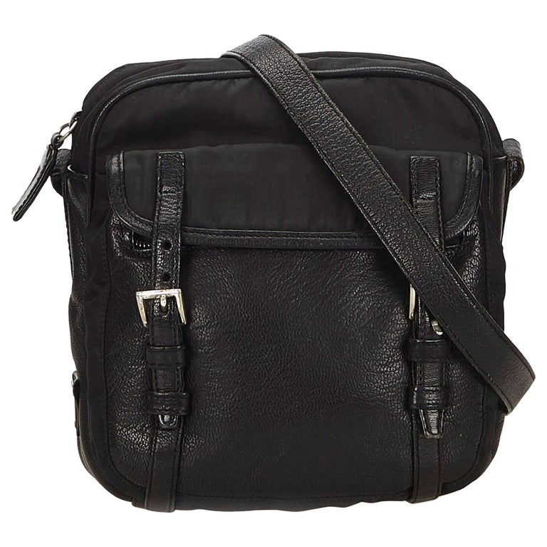 b18a1a1ea0e0 Prada Black Nylon Crossbody Bag For Sale at 1stdibs