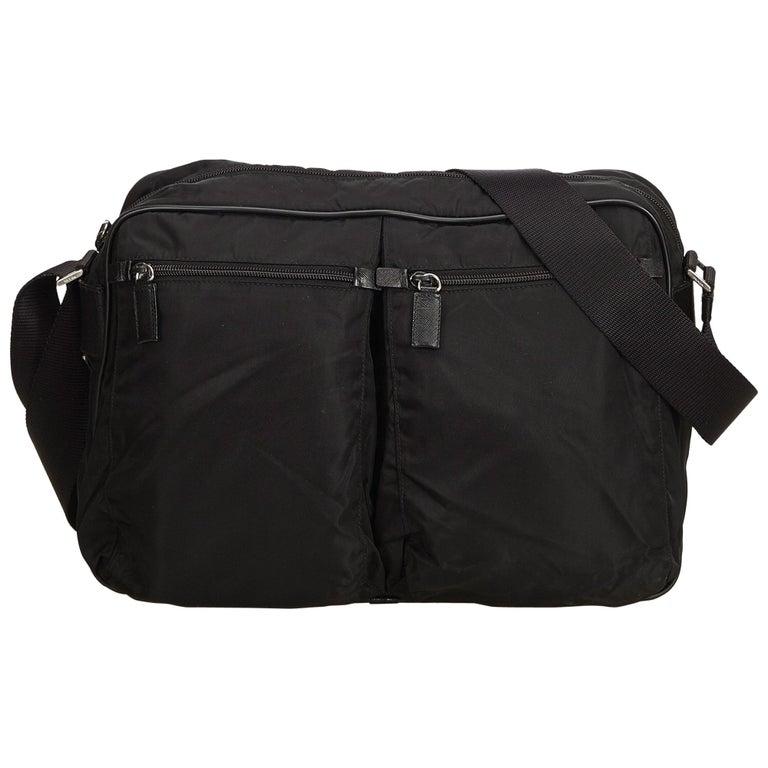 cd996ae10101 Prada Black Nylon Crossbody Bag For Sale at 1stdibs