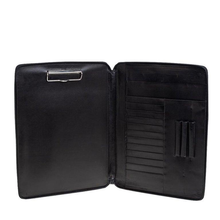 Men's Prada Black Nylon Document Holder For Sale