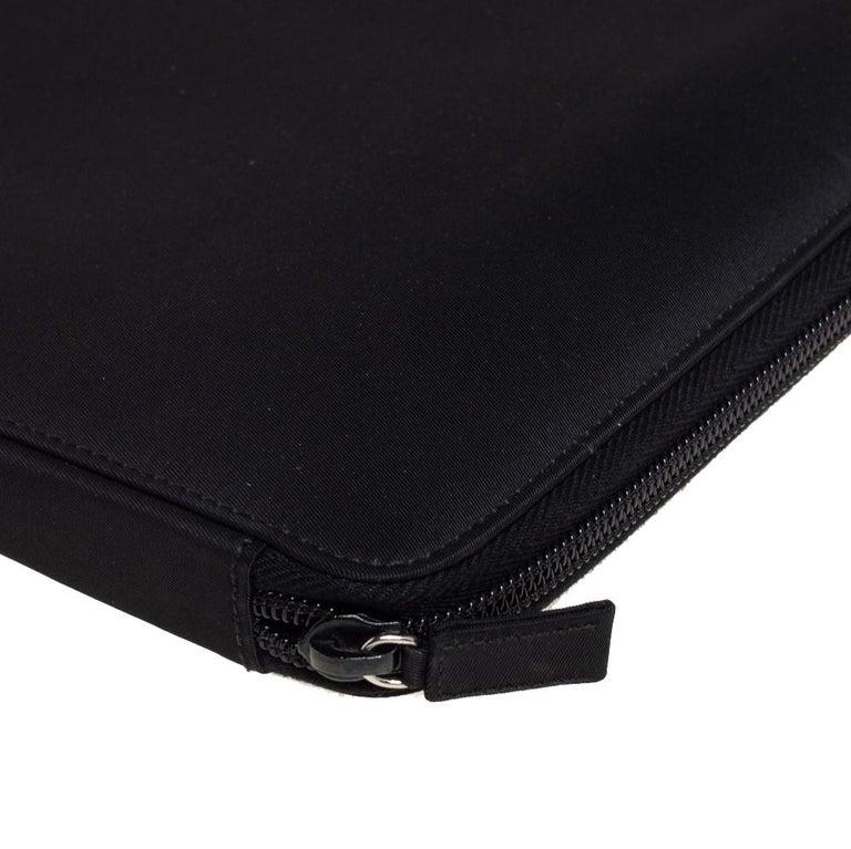 Prada Black Nylon Document Holder For Sale 1