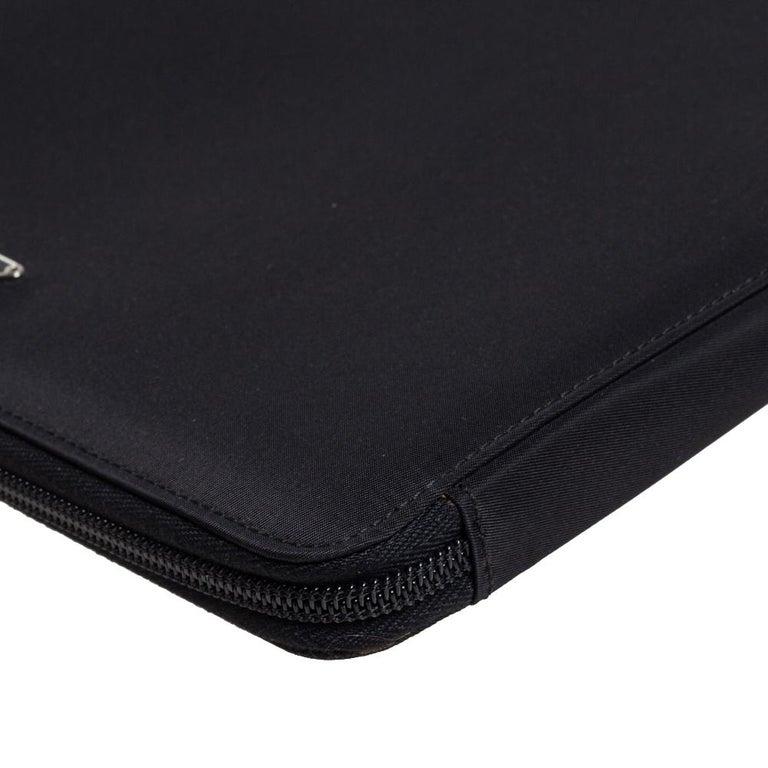 Prada Black Nylon Document Holder For Sale 2