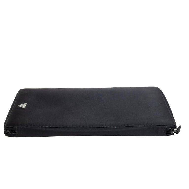 Prada Black Nylon Document Holder For Sale 3