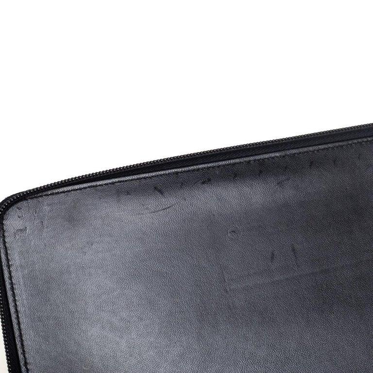 Prada Black Nylon Document Holder For Sale 4