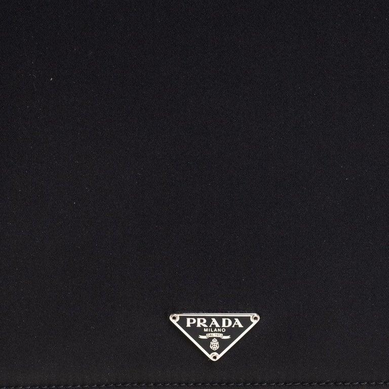 Prada Black Nylon Document Holder For Sale 5