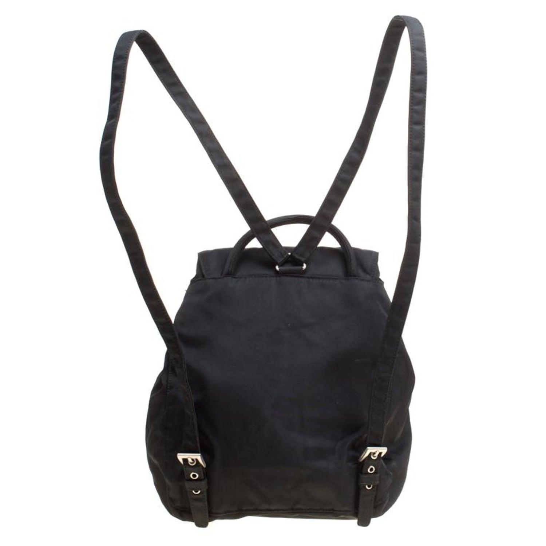 Prada Black Nylon Drawstring Backpack 985cb80d65fbc