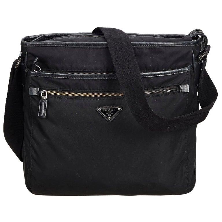 799a96b7199e Prada Black Nylon Fabric Crossbody Bag Italy For Sale at 1stdibs