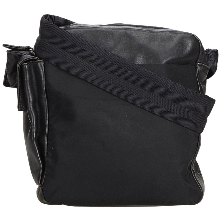 66d299779c Prada Black Nylon Fabric Crossbody Bag Italy For Sale at 1stdibs