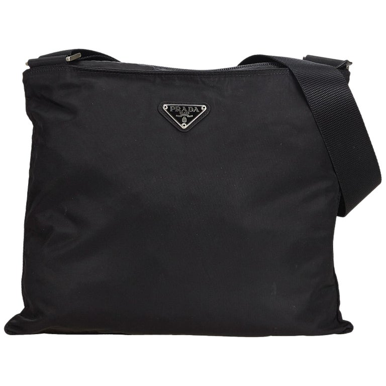 08eef5b456 Prada Black Nylon Fabric Crossbody Bag Italy at 1stdibs