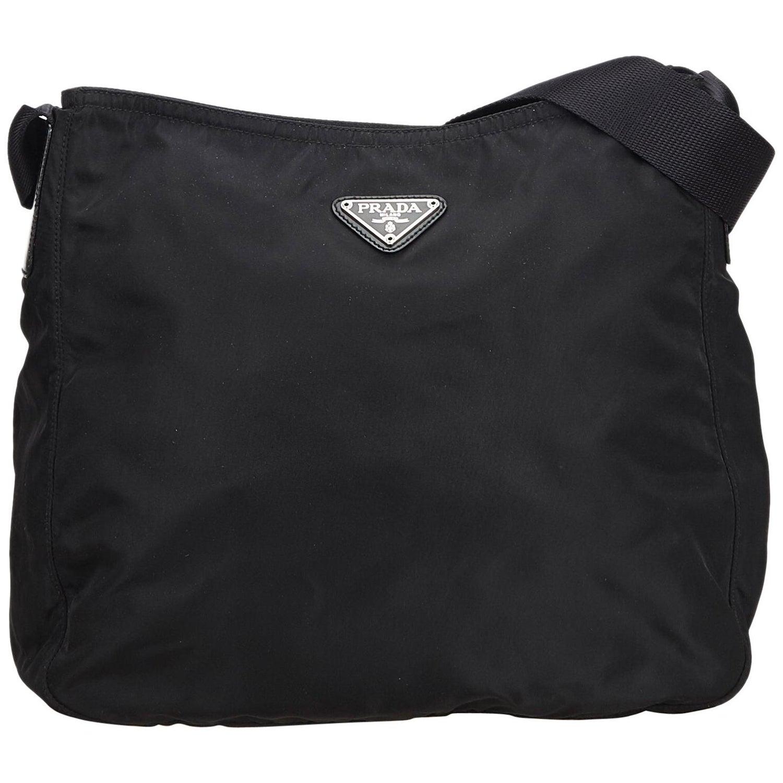 8702f91d08 Prada Black Nylon Fabric Crossbody Bag ITALY w/ Authenticity Card at 1stdibs