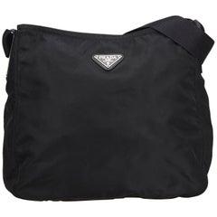 398d8c1e2056 Prada Black Nylon Fabric Crossbody Bag ITALY w/ Authenticity Card