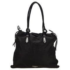 Prada Black Nylon Fabric Drawstring Shoulder Bag Italy
