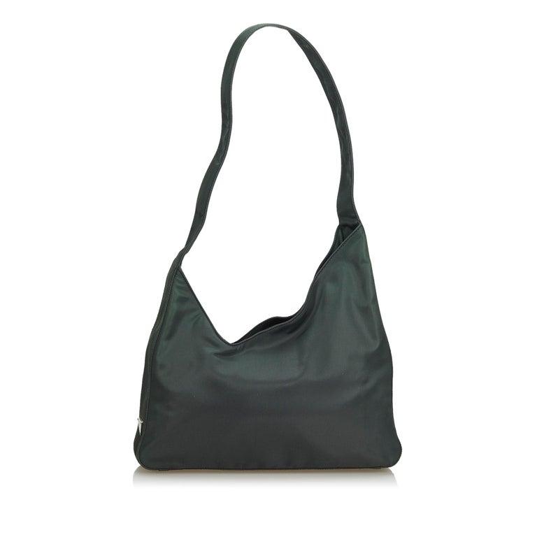e6052cda724 Prada Black Nylon Fabric Shoulder Bag Italy