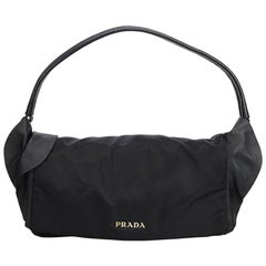 897467c0fdef Prada Black Nylon Fabric Shoulder Bag Italy