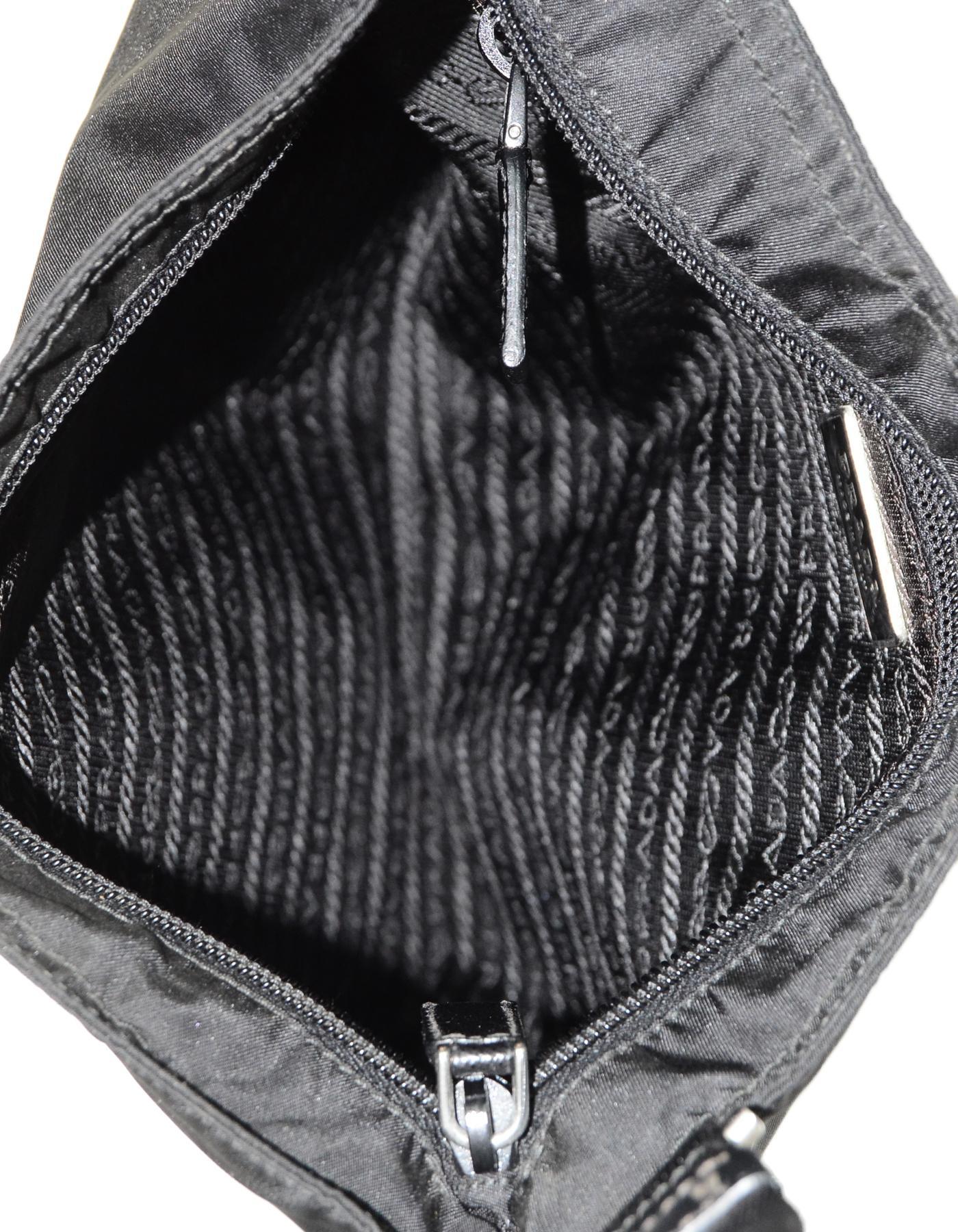 1a85e737787d ... uk prada black nylon flat messenger crossbody bag for sale 2 98ae2  44422 ...