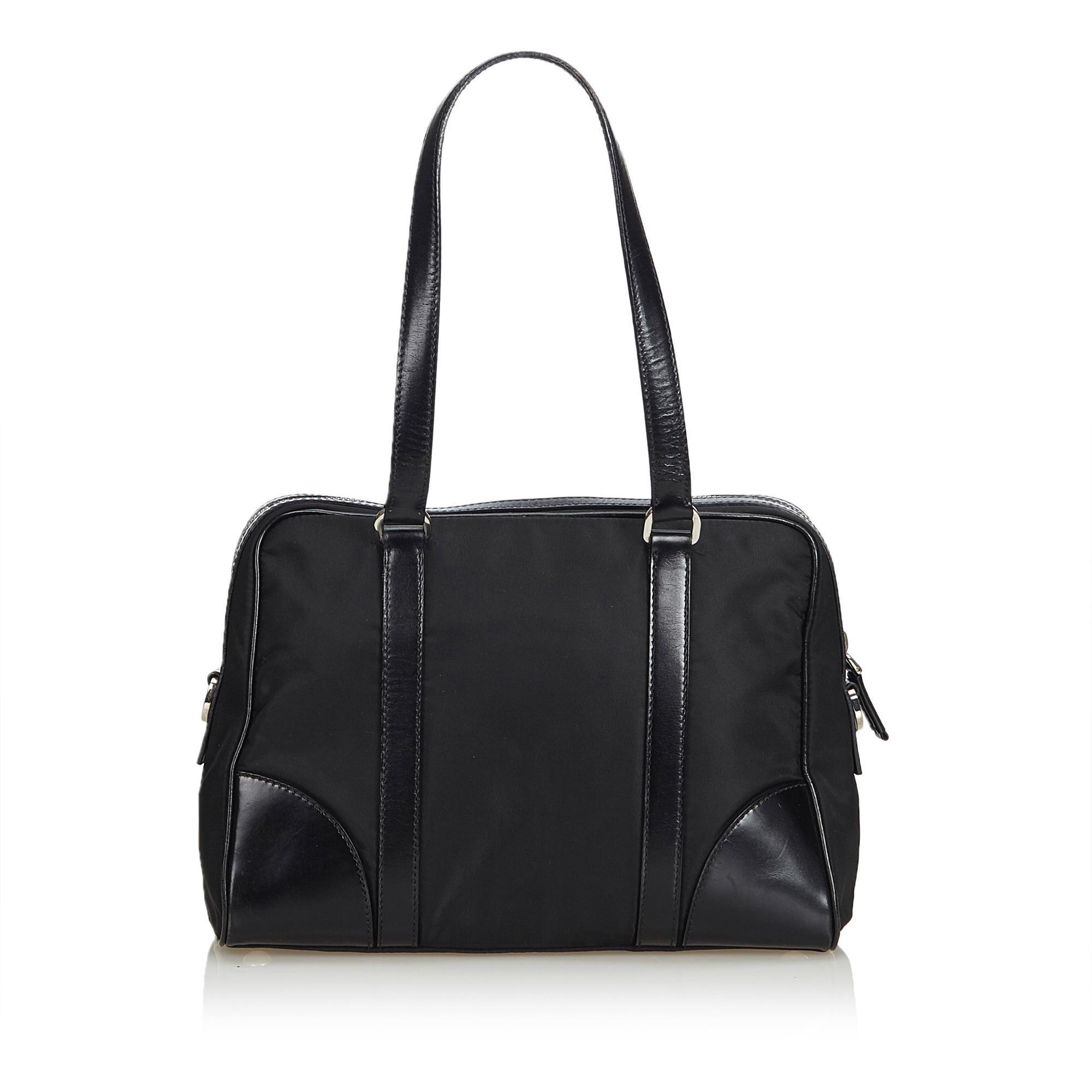 ce215dbd2b11 Prada Black Nylon Handbag at 1stdibs