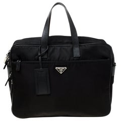 Prada Black Nylon Laptop Bag