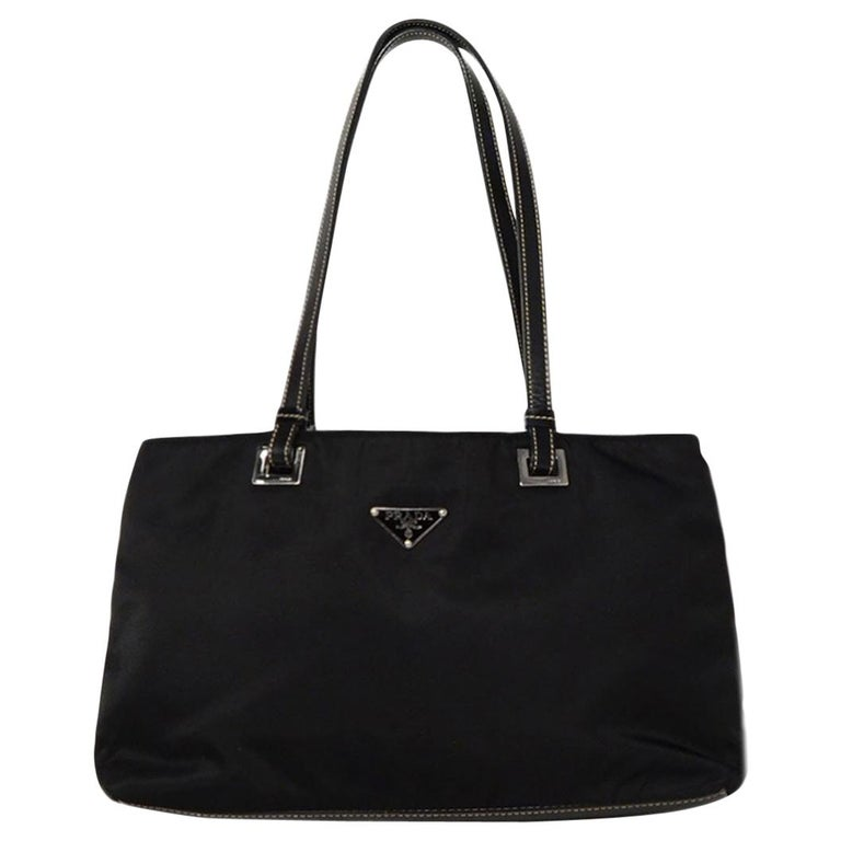 5c8ca4620b5d85 Prada Black Nylon/Leather Tote Bag For Sale at 1stdibs