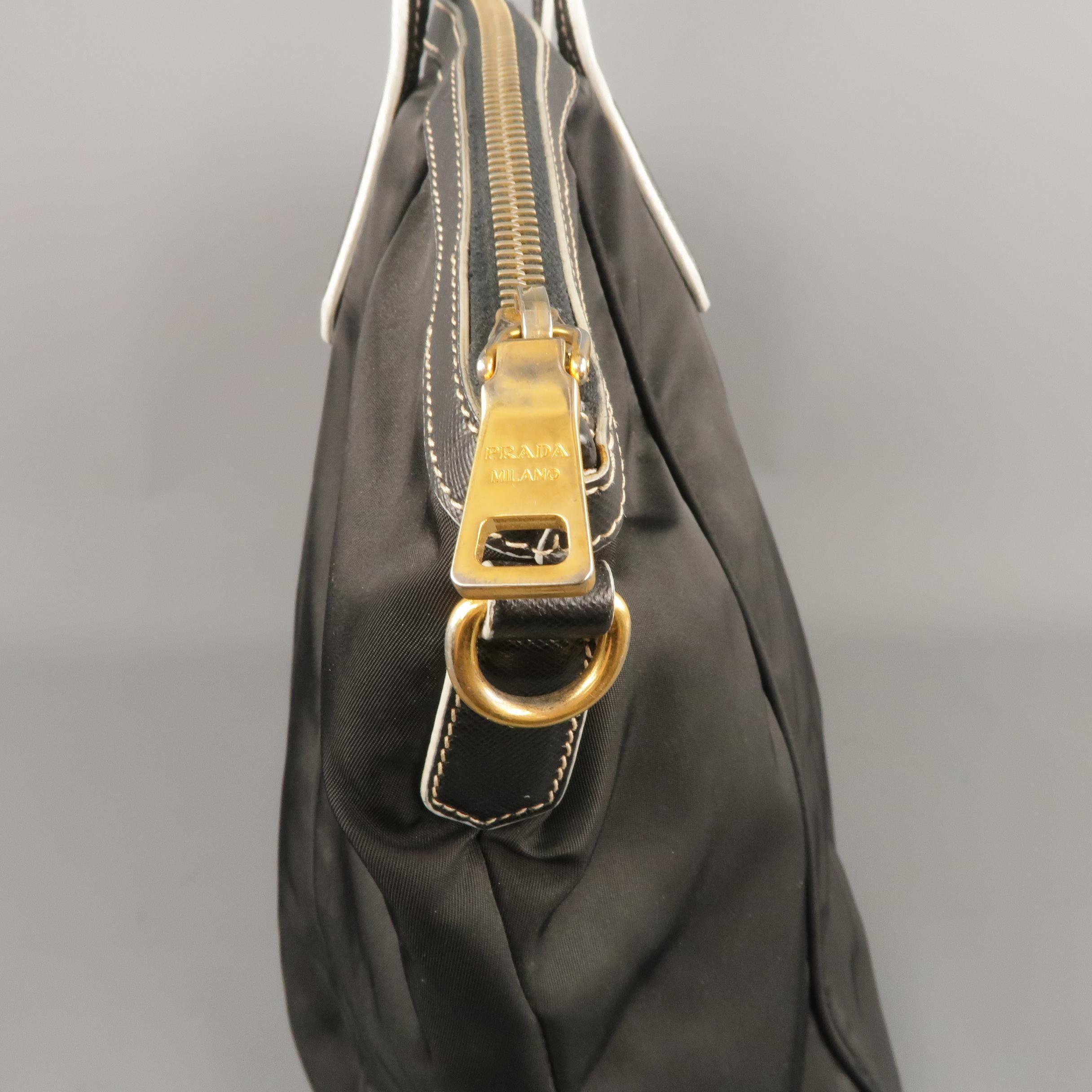 71409ef5b0 PRADA Black Nylon and Leather Tote Handbag at 1stdibs