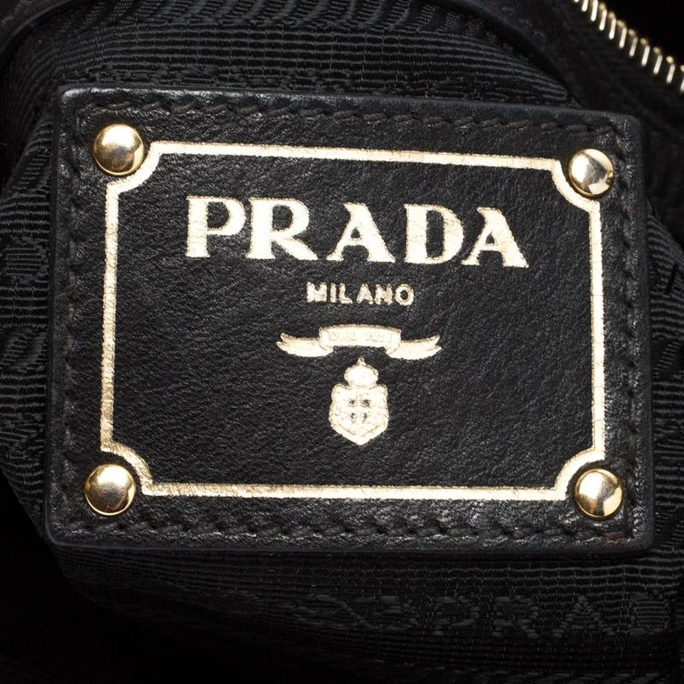 Prada Black Nylon Pleated Shoulder Bag For Sale 1