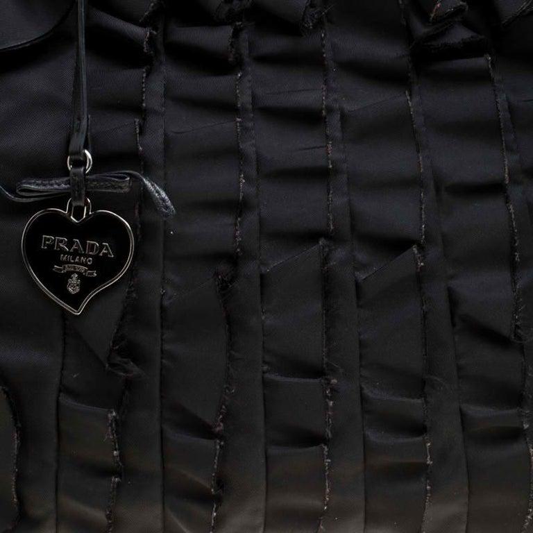 Prada Black Nylon Ruffle Tote 1