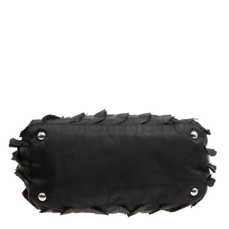 Prada Black Nylon Ruffle Tote 2