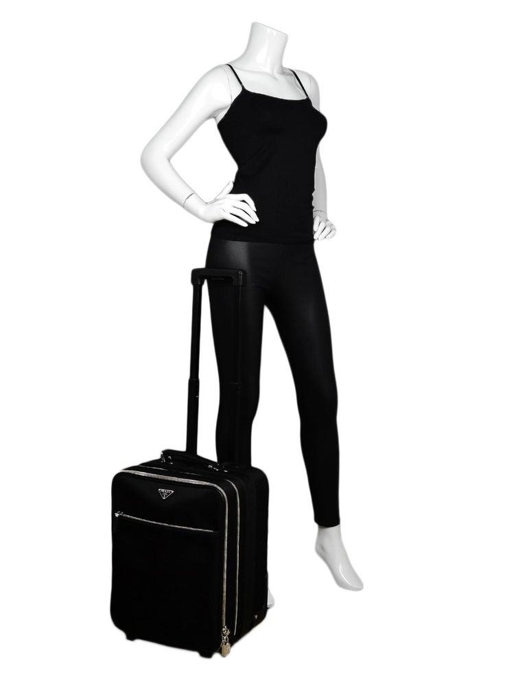 5b1a1e3365 Prada Black Nylon/Saffiano Leather 40cm/16