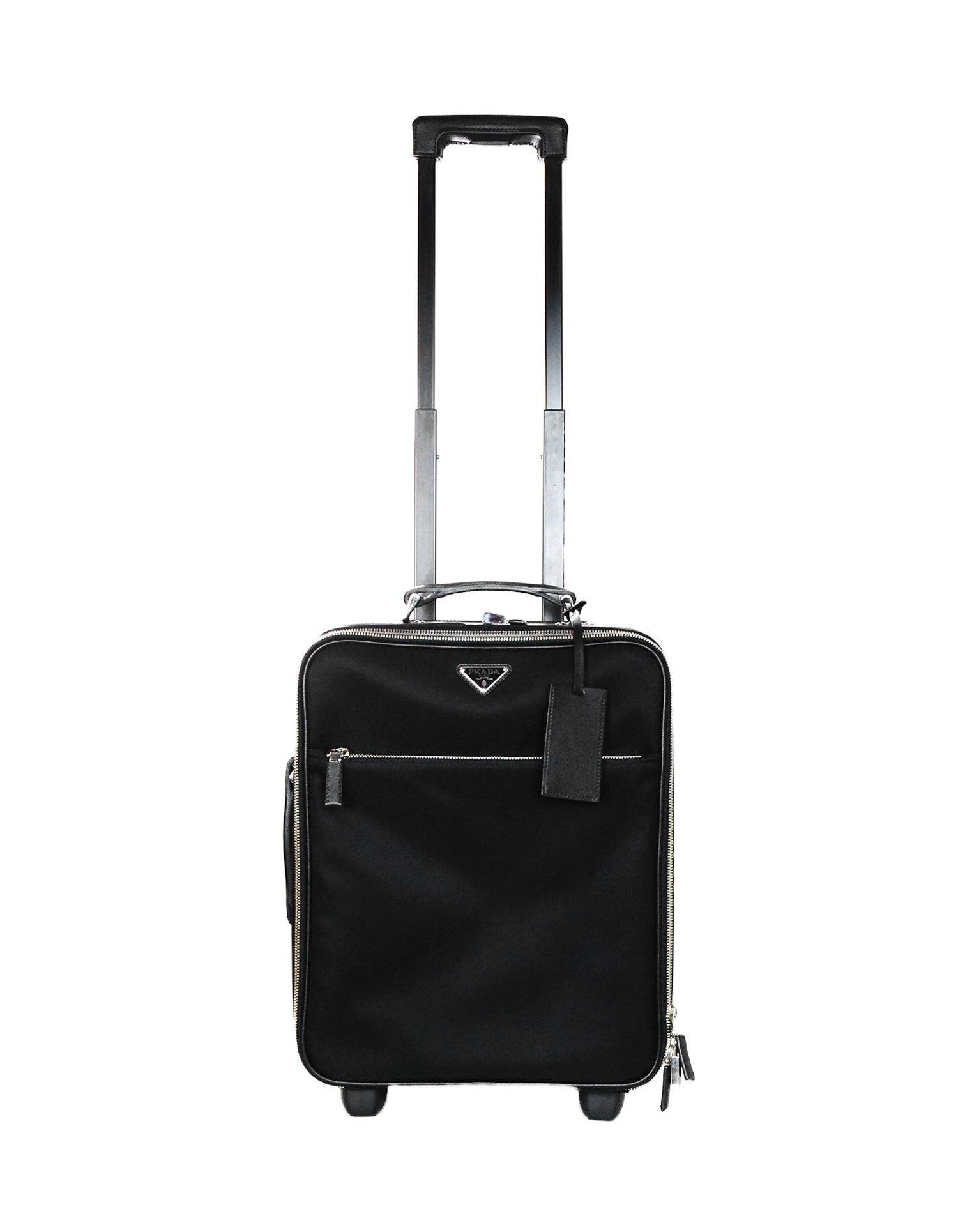 c0baa6507aed Prada Black Nylon/Saffiano Leather 40cm/16