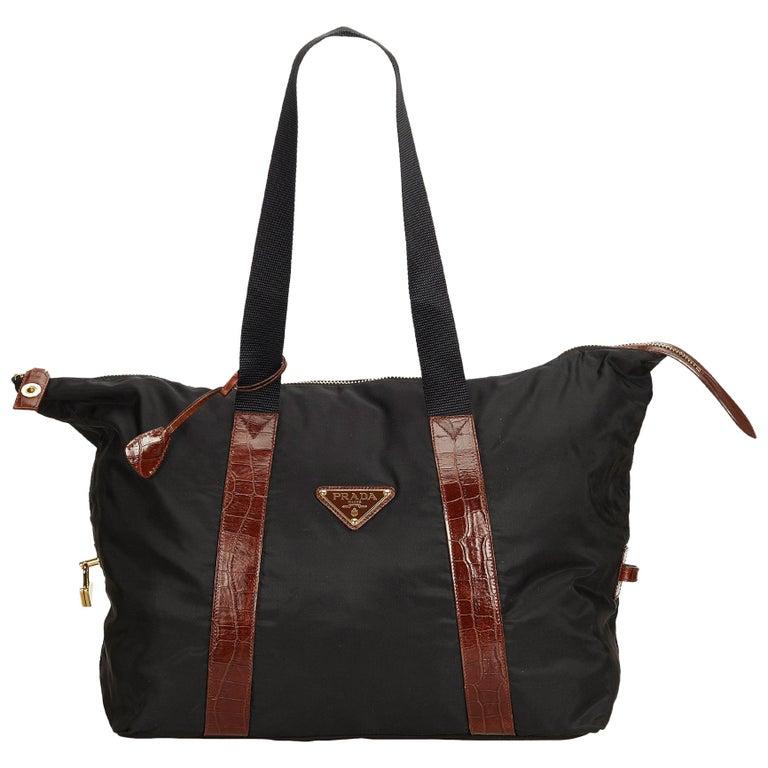 76dbea4b0e3f Prada Black Nylon Shoulder Bag at 1stdibs