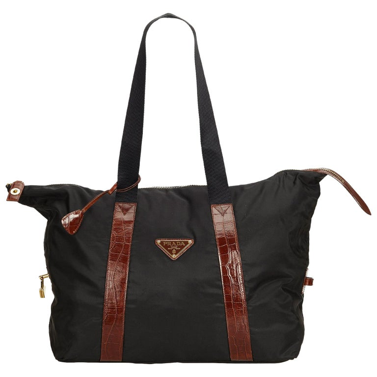 ff6fad370c4154 Prada Black Nylon Shoulder Bag at 1stdibs