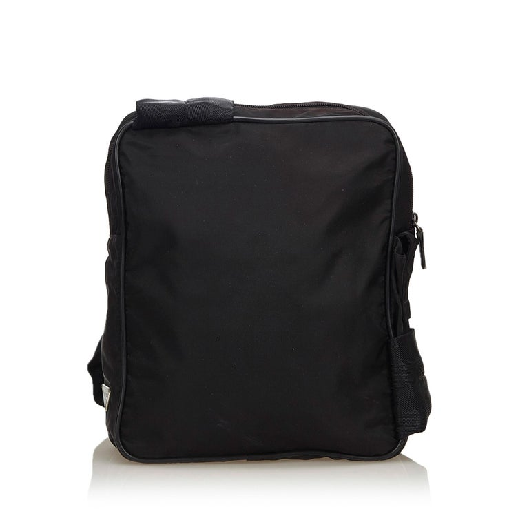0a997cc07a83 Prada Black Nylon Sling Backpack In Good Condition For Sale In Orlando