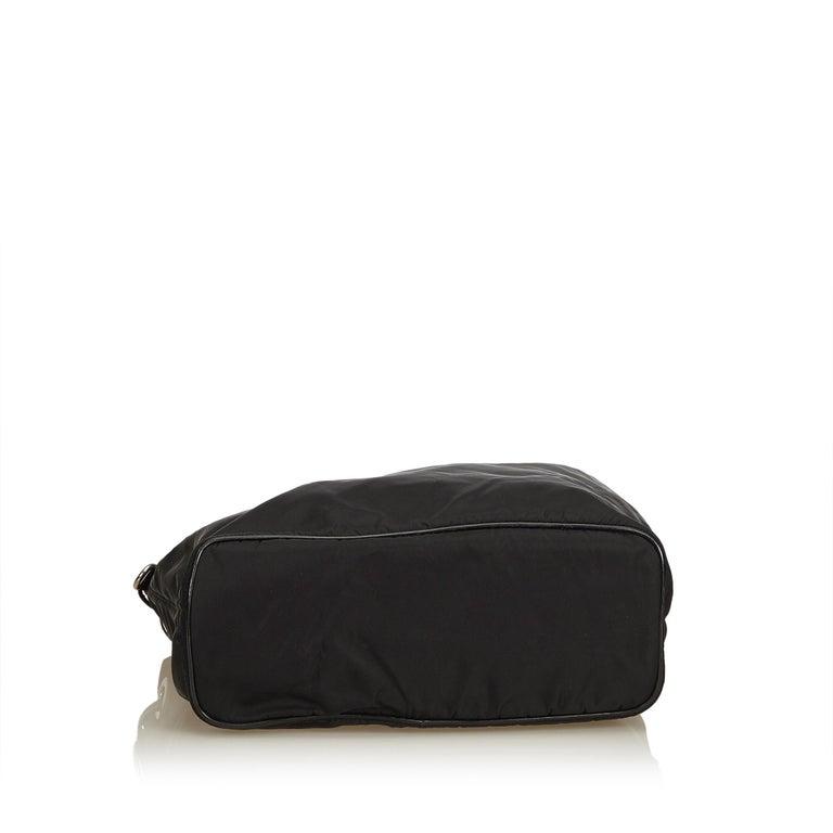 Women's Prada Black Nylon Tote Bag For Sale