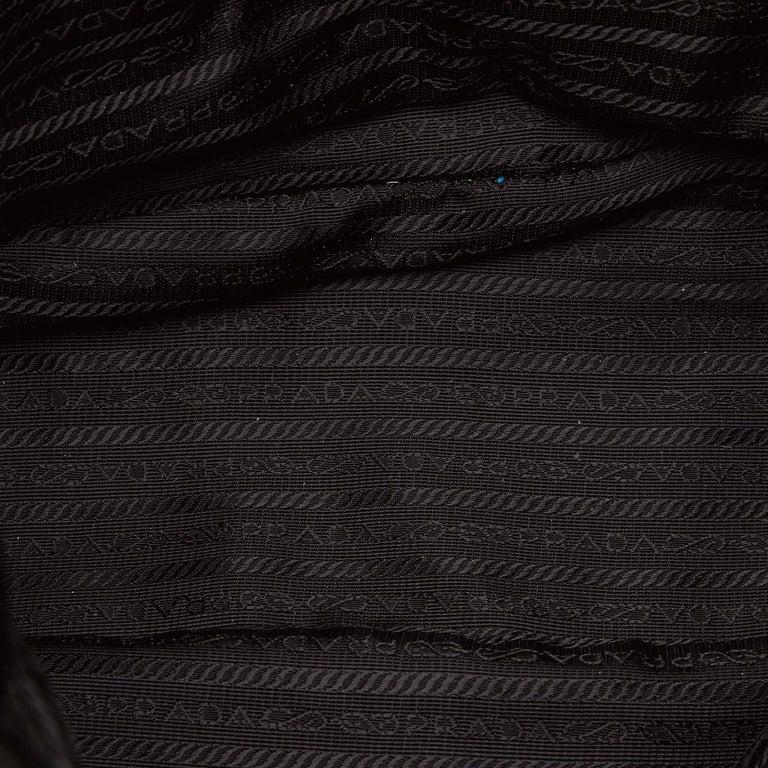 Prada Black Nylon Tote Bag For Sale 1