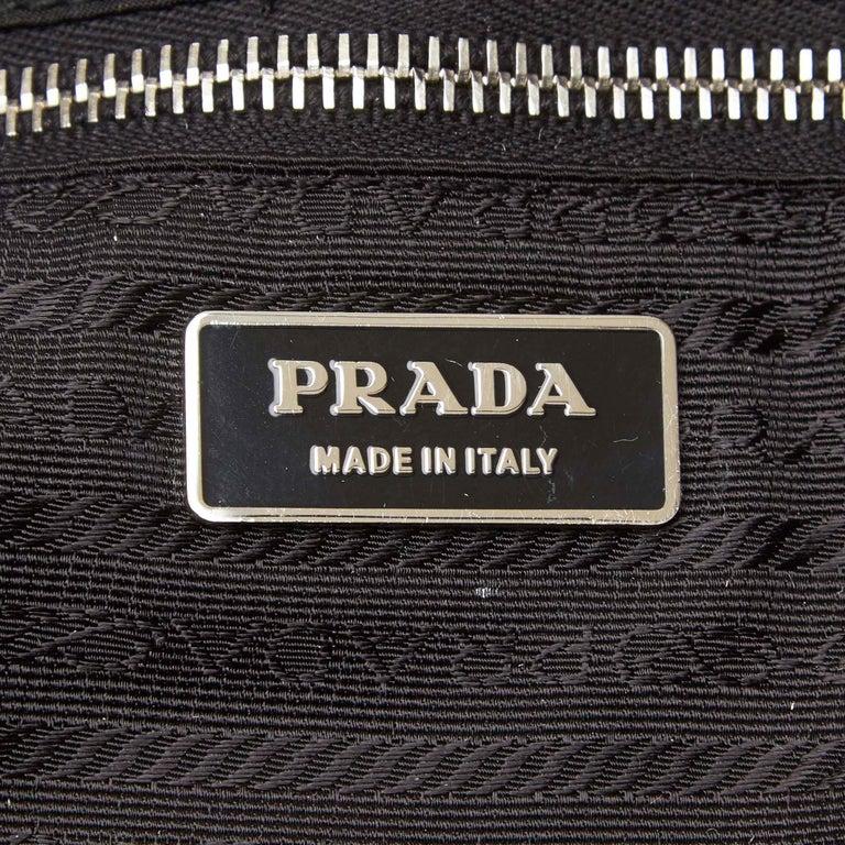 Prada Black Nylon Tote Bag For Sale 2