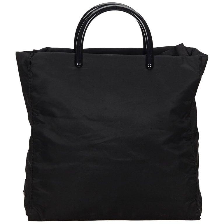 76b1dc5c53c1 Prada Black Nylon Tote Bag at 1stdibs
