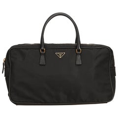 Prada Black Nylon Travel Bag