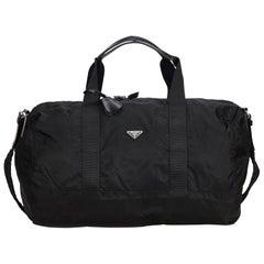 Prada Black Nylon Travel Bag