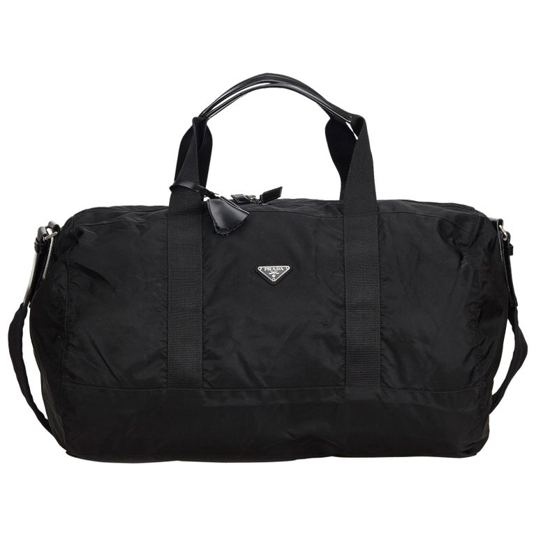 b1fc6dd0b4d44a Prada Black Nylon Travel Bag at 1stdibs