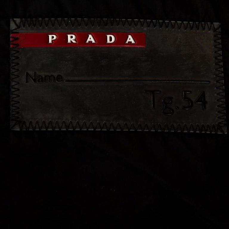 Men's Prada Black Nylon Zip Front Jacket XXL For Sale
