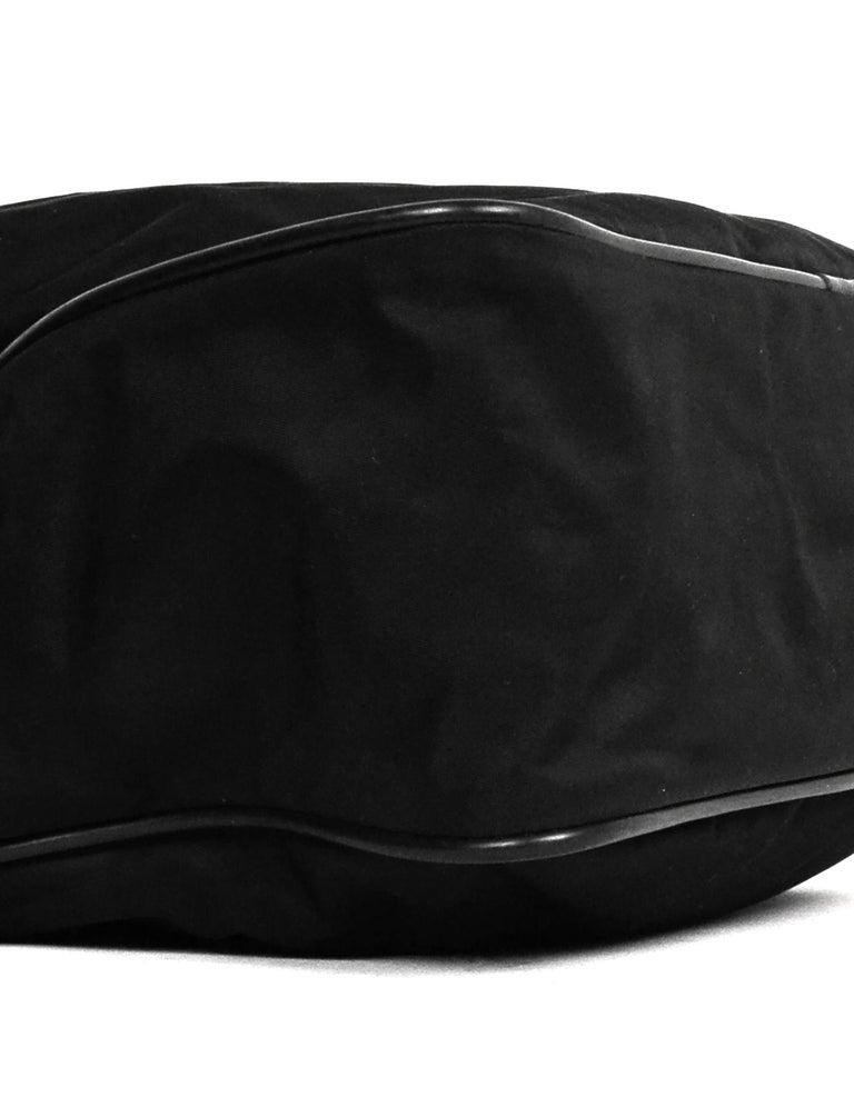 Women's or Men's Prada Black Nylon Zip Top Messenger Bag For Sale