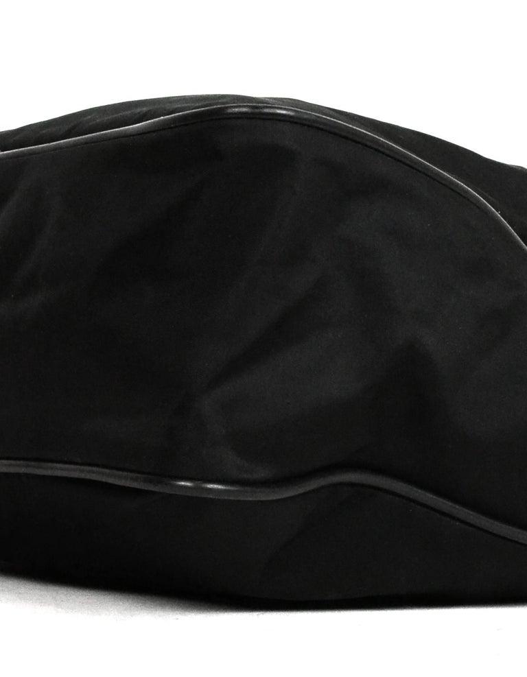 Prada Black Nylon Zip Top Messenger Bag For Sale 1