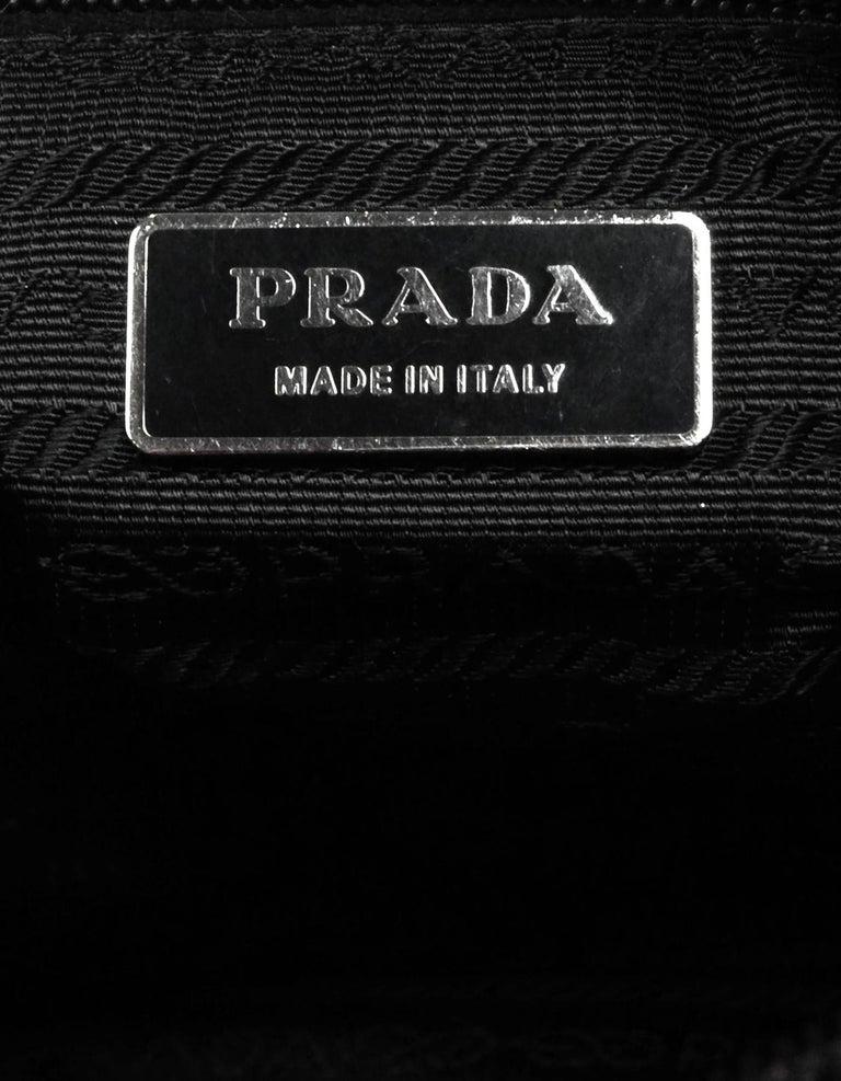 Prada Black Nylon Zip Top Messenger Bag For Sale 4
