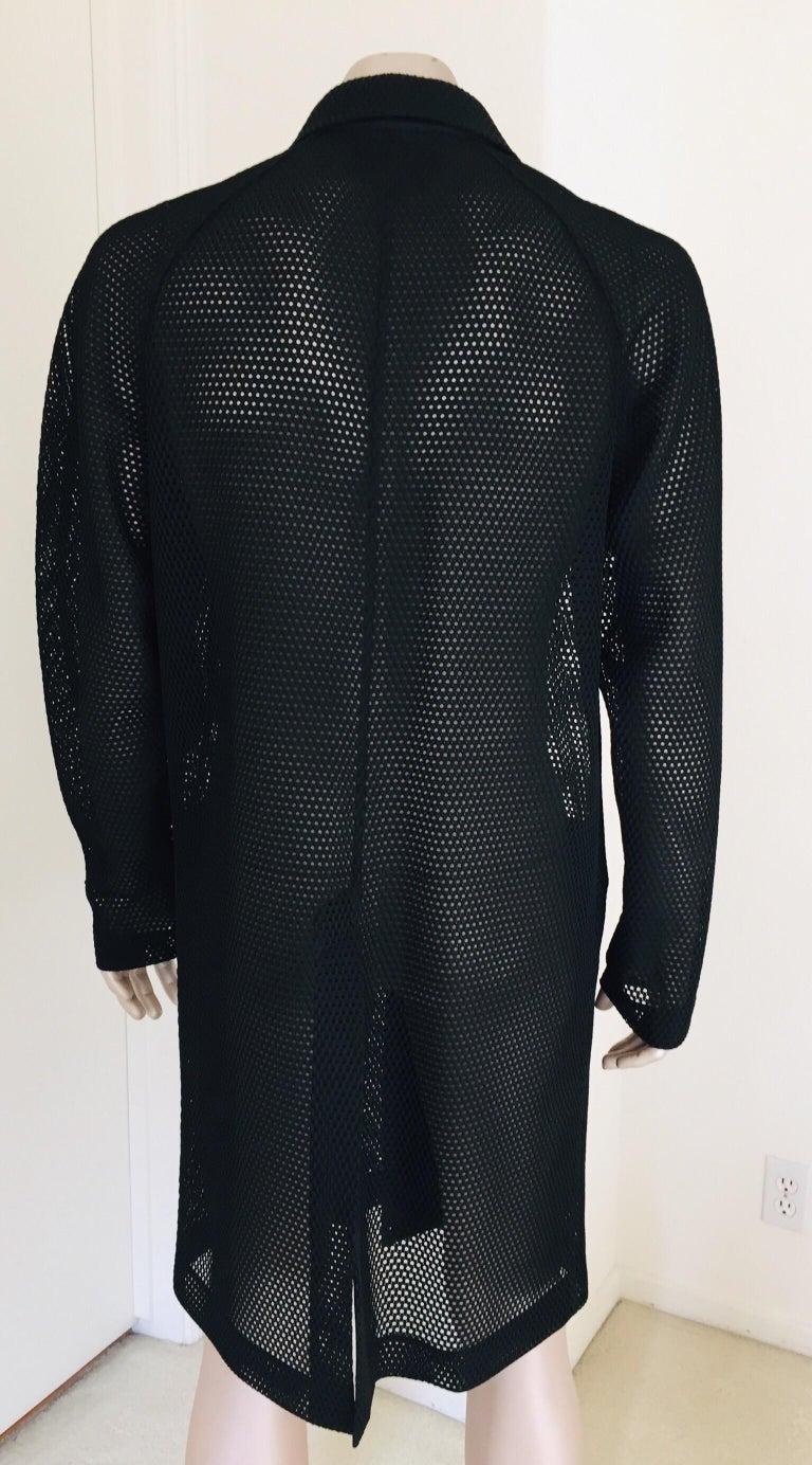 Prada Black Overcoat Made in Italy For Sale 5