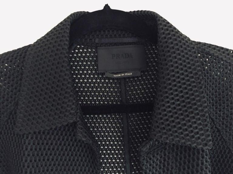 Prada Black Overcoat Made in Italy For Sale 6